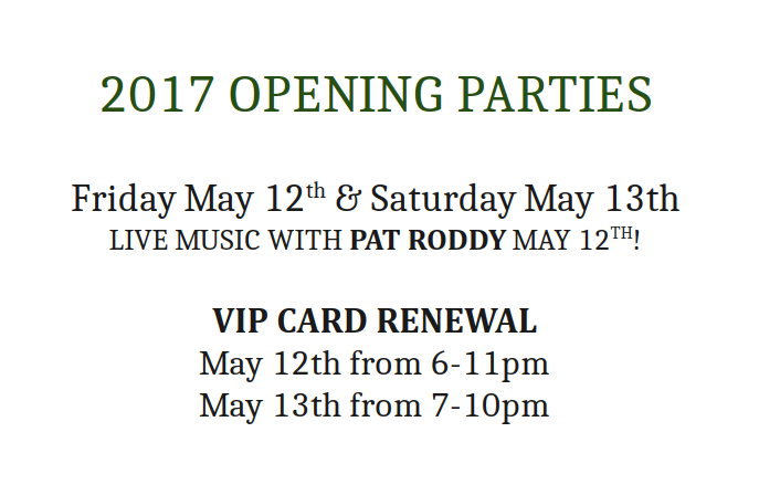 2017 Opening Parties